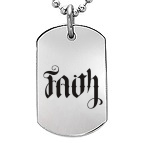 Ambigram Dog Tag Necklace Titanium