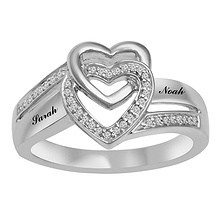 1/10 Ct. tw Diamond Heart Ring