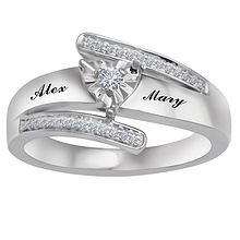 110 ct tw diamond heart ring - Wedding Rings For Her