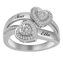 1/4 Ct. tw Diamond Heart Ring