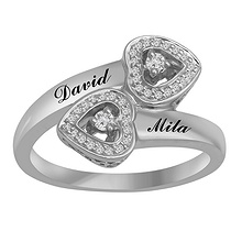 1/8 Ct. tw Diamond Heart Ring