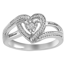 1/6 Ct. tw Diamond Heart Ring