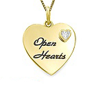 Color Stone Children's Heart Necklace