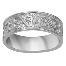 Heart Wedding Band