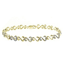 3/8 - 1/2 Ct. tw Diamond Heart Bracelet