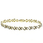 3/4 - 7/8 Ct. tw Diamond Heart Bracelet