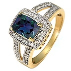 1/5 Ct. tw Diamond Color Stone Ring