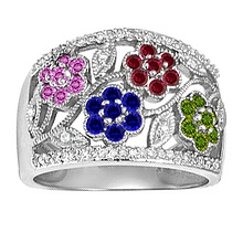 Jared Color Stone Ring- Fashion