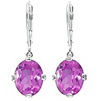 Color Stone Drop Earrings