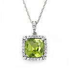 1/10 Ct. tw Diamond Color Stone Necklace