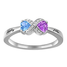 color stone couples ring - Kays Jewelers Wedding Rings