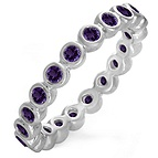 Color Stone Stackable Eternity Band