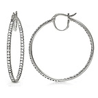 1 1/2 Ct. tw Diamond Hoop Earrings