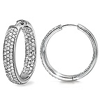 2 Ct. tw Diamond Hoop Earrings