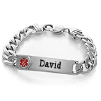 Men's Medical Bracelet Sterling Silver