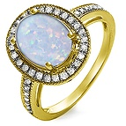 1/4 Ct. tw Diamond Color Stone Ring