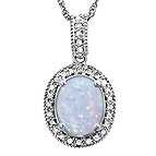 1/6 Ct. tw Diamond Color Stone Necklace