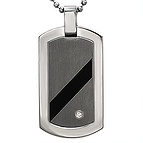 Men's Dog Tag Necklace Titanium