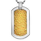 Men's Dog Tag Necklace Titanium- Chains