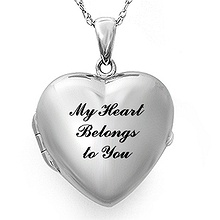 Heart Locket Necklace Sterling Silver