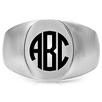 Jared Monogram Signet Ring- Fashion