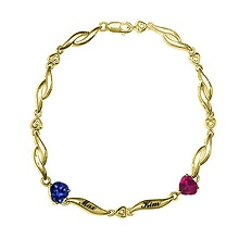 Color Stone Couple's Bracelet