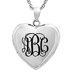 Monogram Locket Necklace
