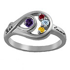 Color Stone Mother's Ring