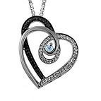 1/5 Ct. tw Diamond Color Stone Heart Necklace