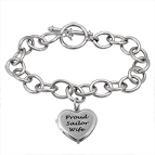 Heart Locket Bracelet Sterling Silver
