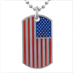 Dog Tag Necklace Titanium