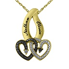 1/20 Ct. tw Diamond Couple's Heart Necklace