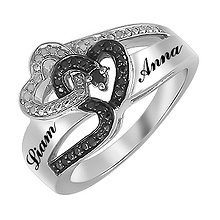 1/15 Ct. tw Diamond Couple's Heart Ring