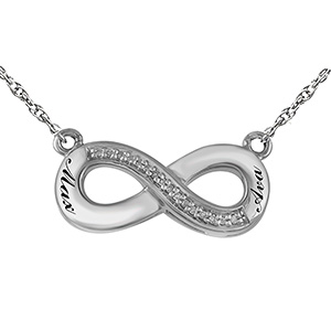 1/20 Ct. tw Diamond Couple's Necklace