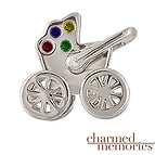 Charm Memories Baby Carriage Family Sterling Silver Charm