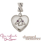 Charm Memories Open Heart Angel Locket Sterling Silver Charm