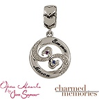 Charmed Memories Open Heart Couple's Charm Sterling Silver