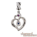 Charm Memories Love Embrace Couple's Sterling Silver Charm