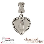 Charmed Memories Diabete Awareness Charm Sterling Silver