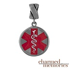 Charm Memories Medical Alert Charm Sterling Silver