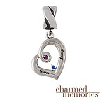 Charmed Memories Love's Embrace Couple's Sterling Silver Charm