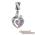 Charmed Memories Mother and Child Family Sterling Silver Charm