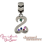 Charm Memories Open Hearts Family Charm Sterling Silver