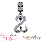 Charmed Memories Open Hearts Couple's Sterling Silver Charm