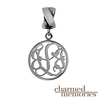 Charmed Memories Monogram Charm Sterling Silver