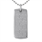 Dog Tag Necklace Stainless Steel