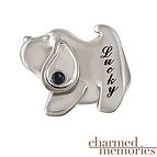 Charmed Memories Dog Charm Sterling Silver