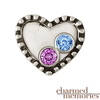Charm Memories Couple's Heart Charm Sterling Silver