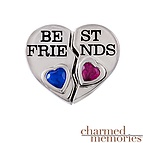 Charmed Memories Best Friend's Charm Sterling Silver