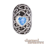 Charmed Memories Couple's Heart Charm Sterling Silver